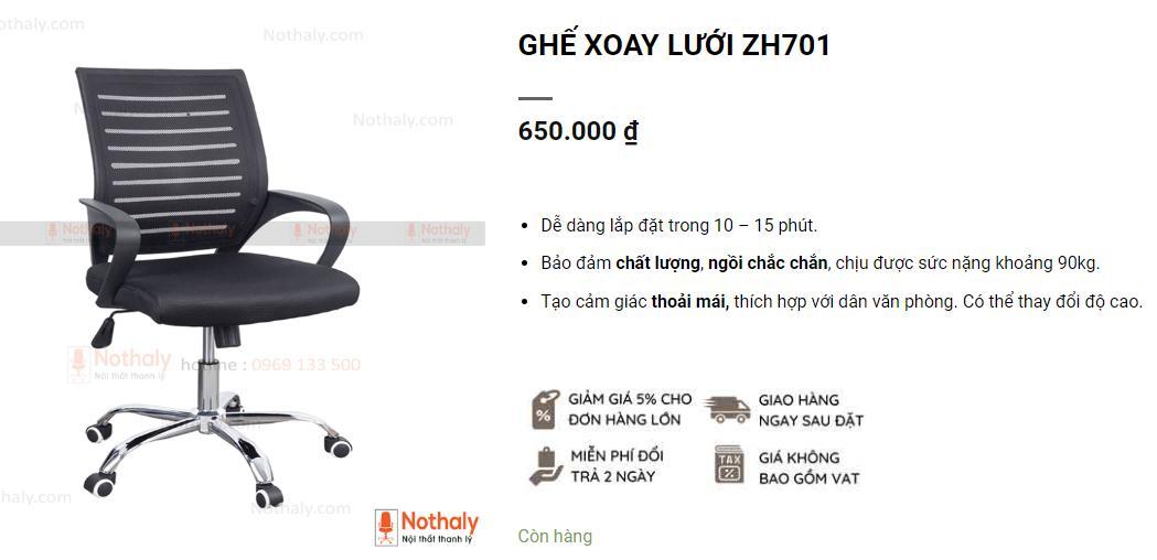 Mua ghế xoay giá rẻ chất lượng cho vp