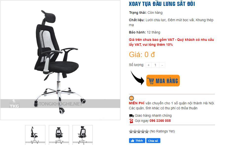 Mua ghế xoay giá rẻ hoàn thiện không gian văn phòng