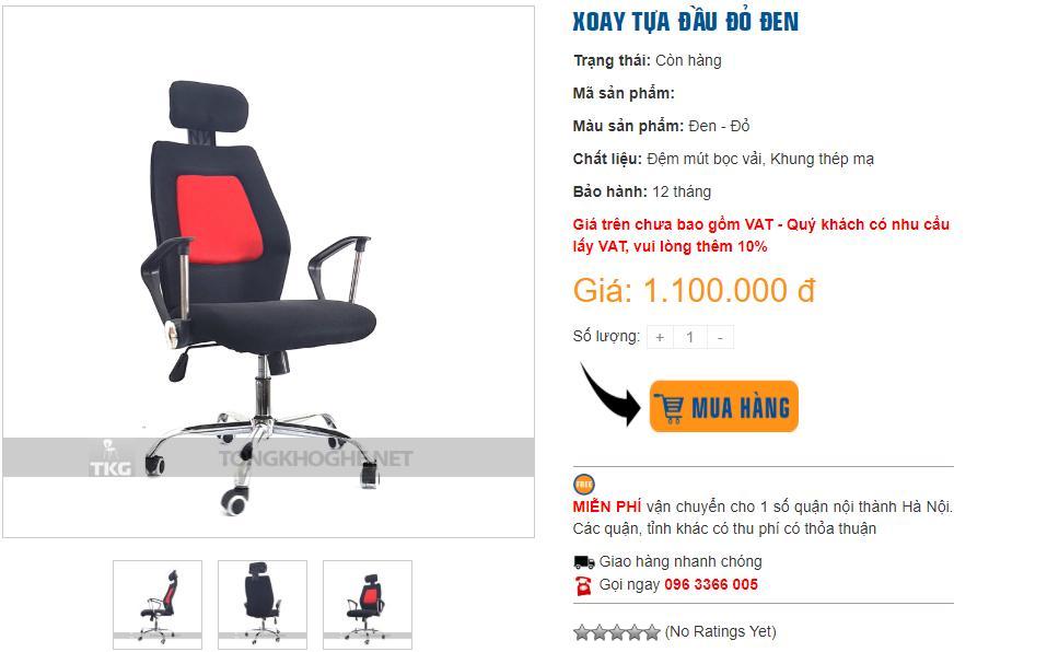 Mua ghế xoay giá rẻ