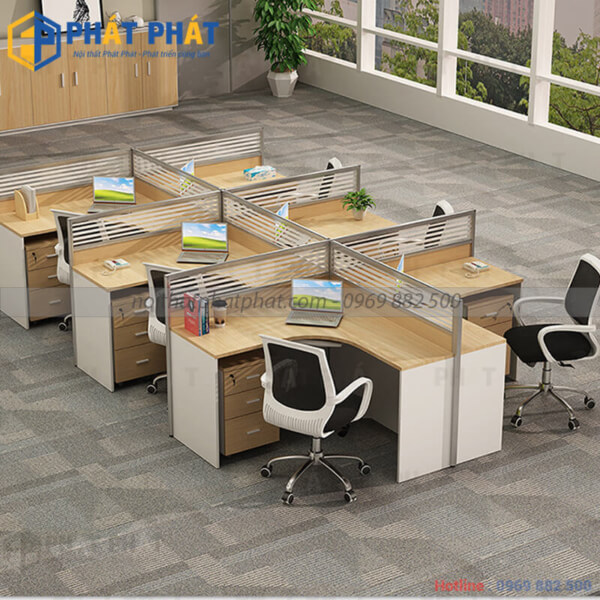 Bàn văn phòng có vách ngăn đẹp, tinh tế mang đến nhiều lợi ích thiết thực